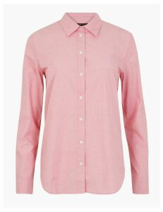 M&S Collection Pima Cotton Polka Dot Print Shirt