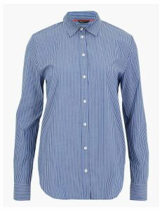 M&S Collection Pima Cotton Striped Shirt