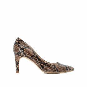 Snakeskin Effect Stiletto High Heels