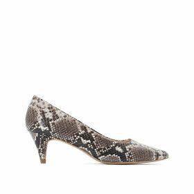 Snake Print Stiletto Heels