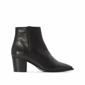 Leather Ankle Chelsea Boots with Pointed Toe