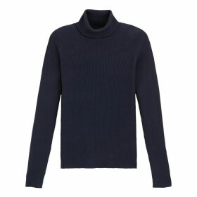 Basic Ribbed Jumper with Roll Neck