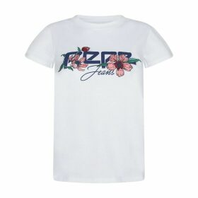 Ailissa Embroidered Cotton T-Shirt with Logo