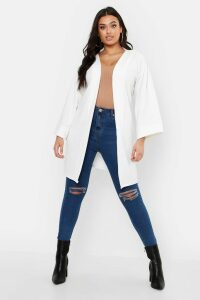 Womens Plus Kimono Sleeve Duster - White - 20, White