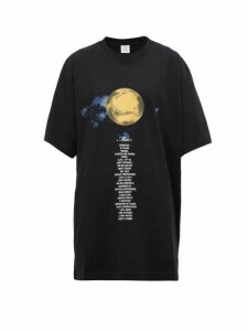 Vetements - Mars Oversized Cotton Jersey T Shirt - Womens - Black Multi