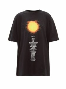 Vetements - Sun Oversized Cotton Jersey T Shirt - Womens - Black Multi