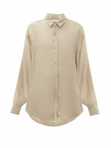 Katharine Hamnett London - Nicola Silk-satin Shirt - Womens - Beige