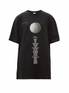 Vetements - Moon Oversized Cotton-jersey T-shirt - Womens - Black Multi