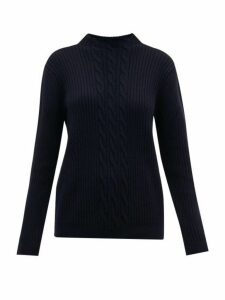 A.p.c. - Nico Cable Knit Wool Blend Sweater - Womens - Navy