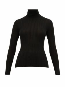 Gabriela Hearst - Peppe Roll Neck Ribbed Cashmere Blend Sweater - Womens - Black