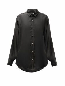 Katharine Hamnett London - Nicola Silk Satin Blouse - Womens - Black
