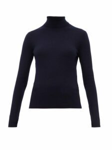 Gabriela Hearst - May Wanaka Roll Neck Sweater - Womens - Navy