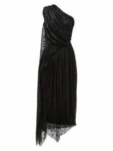 Halpern - One-shoulder Devoré-lamé Dress - Womens - Black