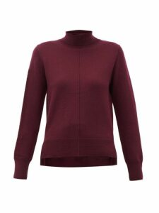 Sea - Nora Roll Neck Wool Sweater - Womens - Burgundy