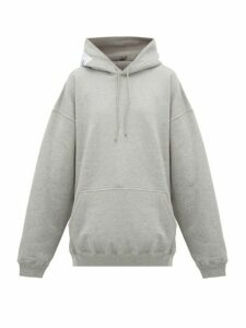 Vetements - Atelier-patch Cotton Hooded Sweatshirt - Womens - Grey