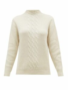 A.p.c. - Nico Cable-knit Wool-blend Sweater - Womens - Ivory