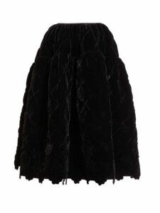 Cecilie Bahnsen - Rosie Quilted Velvet Skirt - Womens - Black