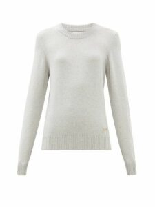 Barrie - Logo-plaque Cashmere Sweater - Womens - Light Grey