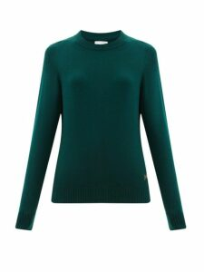 Barrie - B-plaque Cashmere Sweater - Womens - Dark Green