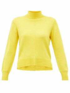 Sea - Nora Side Slit Roll Neck Wool Sweater - Womens - Yellow