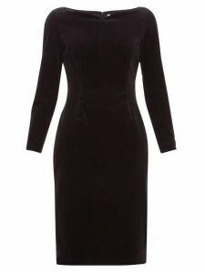 Goat - Intrigue Boat Neck Velvet Dress - Womens - Black