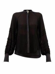 Aje - Acacia Bishop-sleeve Blouse - Womens - Black