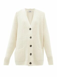 Katharine Hamnett London - Bennie Oversized Wool Blend Cardigan - Womens - White