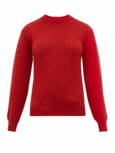Sara Lanzi - Patchwork Merino Wool-blend Sweater - Womens - Red