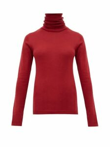 Sara Lanzi - Roll Neck Merino Wool Sweater - Womens - Dark Red
