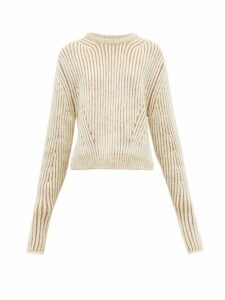 Chloé - Two-tone Ribbed Wool-blend Sweater - Womens - Beige Multi