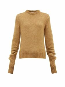 Chloé - Ruched-sleeve Sweater - Womens - Camel