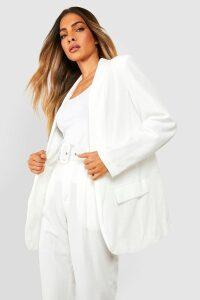 Womens Tailored Blazer - white - 8, White