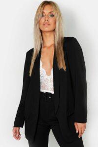Womens Plus Tailored Blazer - Black - 20, Black