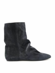 Isabel Marant - Rullee Slouched Suede Ankle Boots - Womens - Black