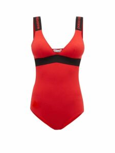 Paco Rabanne - Logo-jacquard Jersey Bodysuit - Womens - Red