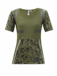 Adidas By Stella Mccartney - Climalite Bodycon Jersey T Shirt - Womens - Khaki