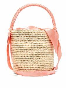 Sensi Studio - X Loulou De Saison Baby Straw Bucket Bag - Womens - Coral