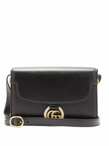 Gucci - GG-ring Leather Shoulder Bag - Womens - Black