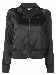 Fila satin sports jacket - Black