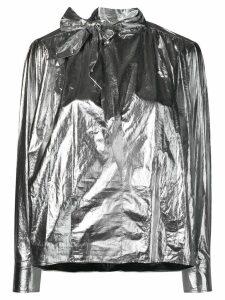 Isabel Marant metallic-style sports jacket - SILVER