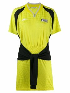 T By Alexander Wang tie front sports dress - Yellow