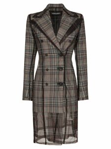 Y/Project double-breasted check blazer dress - Grey