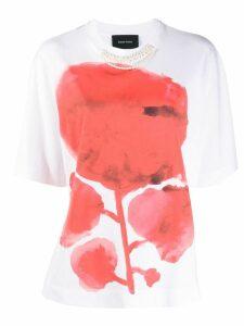 Simone Rocha flower faux pearl T-shirt - White