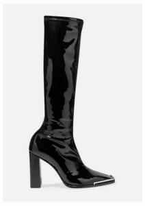 Alexander Wang - Mascha Stretch-vinyl Knee Boots - Black