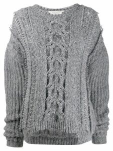 Stella McCartney cable knit sweater - Grey