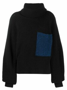Ssheena oversized rollneck sweater - Black