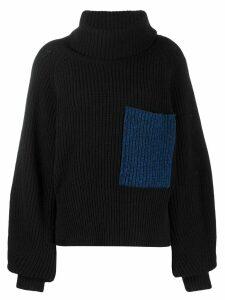 Ssheena oversized rollneck sweater - Black