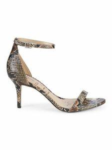 Patti Stiletto Snakeskin Leather Sandals