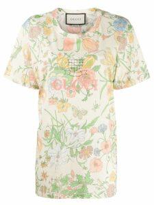 Gucci Floral print T-shirt - NEUTRALS