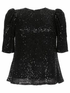 Rachel Gilbert Nancy shoulder detail sequin top - Black